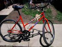 10 speed Magna Red Ridge mountain bike, bottle holder,