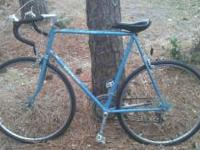 Vintage Schwinn World 10 speed road bike. The tubes,