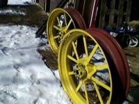 "For Sale; Two 10 spline, 9""x 38"" Flat Spoke Wheels from"
