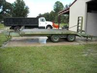 1970 Gene 10 ton equipment trailer, 17' long x 8' wide,