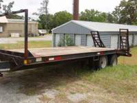10 ton 24' dual tandem trailer good wood and ramp all