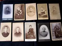10 Vintage Antique Photos. 8 from Germany, 1 from USA