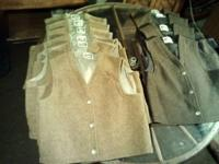 10 western vests with buffalo nickel buttons sold as a