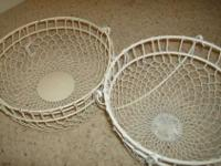 Really sweet vintage looking white chicken wire