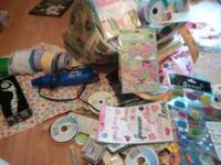 i have a variety of craft supplies. fabric,