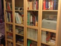 Ikea Billy bookcases w/glass doors (which make the