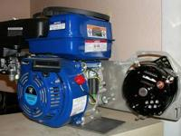 Complete charging system, 6.5 hp gas engine, stainless