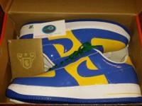 Size 13 (blue yellow ) $60 new   Size 12.5 (silver/blue