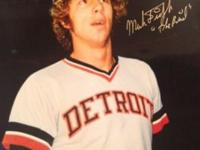 "Mark ""The Bird"" Fidrych Detroit Rookie of the year 1976"