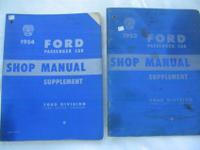 Ford Shop Service & repair instruction manuals - buy