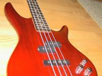 I'm selling my bass guitar because I'm low on cash at