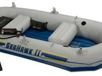 Inflatable Boat Intex Seahawk two Only pre-owned 1 time