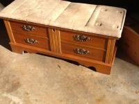 Lane Cedar Chest top cushion is replaceable I had