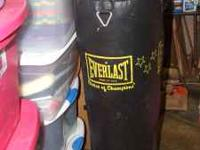 Leather Everlast (practically new) 100 lb