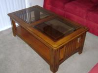 Matching Mission Hills Oak Coffee table and End table