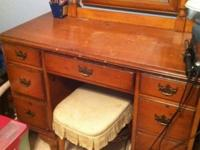 Pine 4 piece bedroom suite. Probably 50 years old. Was