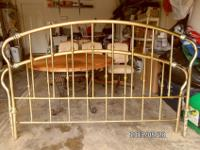 Brass style King Size headboard and footboard (no side