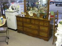 Nice condition dresser with large attached mirror.This