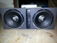 "I have a set of Dual HIFONICS 12"" subs in a ported"
