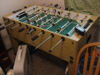 This is a foosball table. It is in great shape. Doesn't