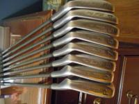 These are Toski Golf clubs and they are in great shape