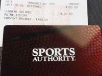 Have a $100 Sports Authority Gift Card selling for $60.