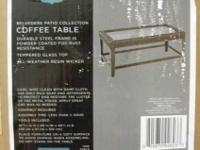 Belevedere patio collection coffee table Brand New