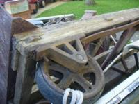 Vintage two wheel dolly, take a look at this old cart,