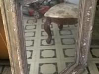 "100 year old French mirror frame. Measures 32 1/2"" W x"