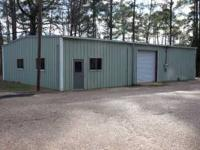 2,400 sq ft commercial building with warehouse and two