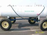 UP FOR SALE IS A 1000 GALLON ANHYDROUS TANK MOUNTED ON