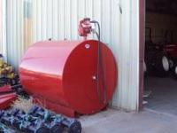 1000 GALLON FUEL TANK WITH METERED PUMP NEVER USED.