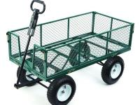 This Heavy-Duty Steel Utility Cart has removable,