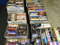 Over a 1000 of VHS tapes of all Genres Comedy, Action,