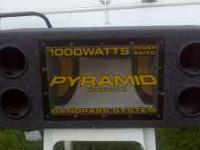 Pyramid 1000 Watt Bass Box with Amp for $150 Cash