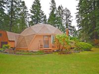 This energy reliable Geodesic Dome home is awaiting