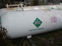 1000 gallon ammonia tanks, 1 on DMI steer gear with