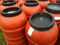 WE HAVE OVER 1000 FOOD GRADE PLASTIC BARRELS IN