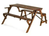 10014649 RUSTIC CONVERTIBLE GARDEN TABLE Garden spaces