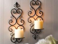 Description: This amazing duo of candle sconces will
