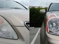 I do professional headlight restoration with headlights