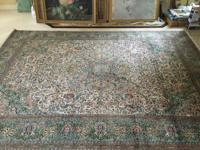 Beautiful and colorful 100% silk Persian-style rug with