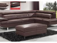 This sectional set will perfectly accommodate any