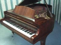 GREAT VALUE in a baby grand Piano. 70's Rosler Piano.