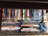 102 brand new DVDs and blue rays for sale. (Mostly