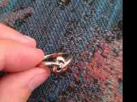 10 Karat Gold small ring Great for a promise ring