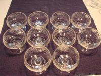 This sale is for 10 individual vintage glass pedestal