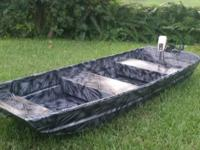 10ft Landau Jon Boat, wide, solid 10 footer. Custom
