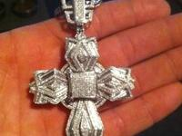 Large 10k wg 4.5ct cross with certificate of