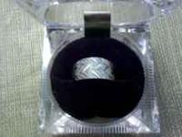 Beautiful white gold ring for sale. Ring is a solid